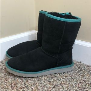 Women's uggs - black and blue size 9